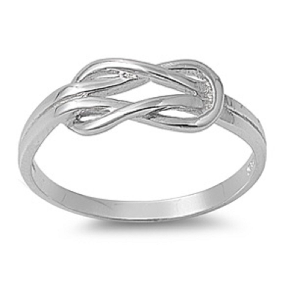 sterling silver infinity promise knot ring color options sizes 2 - Pagan Wedding Rings
