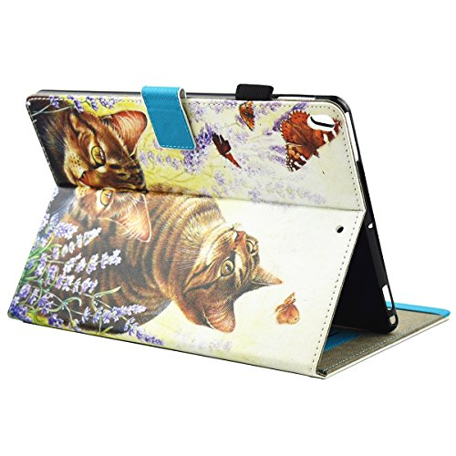 inShang iPad iPad Pro 10.5 Fundas soporte y carcasa para iPad Pro 10.5 inch ((2017 Release) , smart cover PU Funda con Patrón de Diamante + clase alta 2 in 1 inShang marca negocio Stylus pluma cat and butterfly