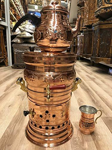 Copper Chimney Pot - Copper Samovar Tea Pot Set Charcoal Handmade Real Copper Samovar