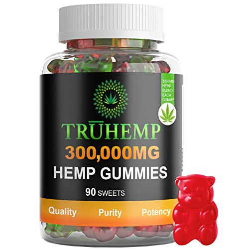 Hemp-Gummies-Premium-300000-MG-High-Potency-3333-Per-Fruity-Gummy-Bear-with-Hemp-Oil-Natural-Hemp-Candy-Supplements-for-Pain-Anxiety-Stress-Inflammation-Relief-Promotes-Sleep-Calm-Mood