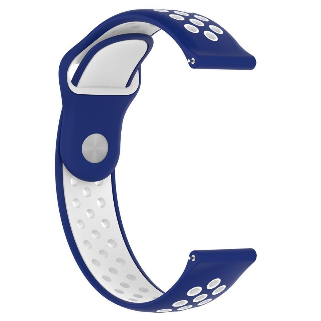 Malloom Impermeable ligero ventilar silicona pulsera correa de muñeca para ZTE Quartz Smartwatch (L)
