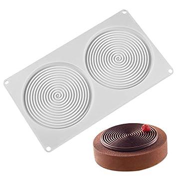 BONYTAIN Molde de silicona en forma de espiral, 6 agujeros, melocotón 3D, moldes para tartas, pasteles, pasteles, postres, arte, sartén: Amazon.es: Hogar