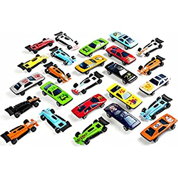Bulk Pack Toy Cars; Diecast Car Set Assorted Styles - Exciting Party Favors for Kids, Stocking Stuffers, Goody Bag Fillers; Toy Car Collection 25 Pack Master Pack