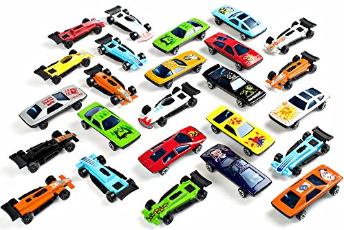 Neliblu Bulk Pack Toy Cars Diecast Car Set Assorted Styles - Exciting Party Favor Cars for Kids,, Stocking Stuffer, Trick-or-Treaters, Easter Basket Gifts, Toy Car Collections 25 Pack]()