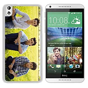 Fashionable Custom Designed Cover Case For HTC Desire 816 With Jonas Brothers White Phone Case