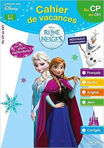 Cahier de vacances la reine des neiges du cp au ce1 pdf - La reine des neige en anglais ...