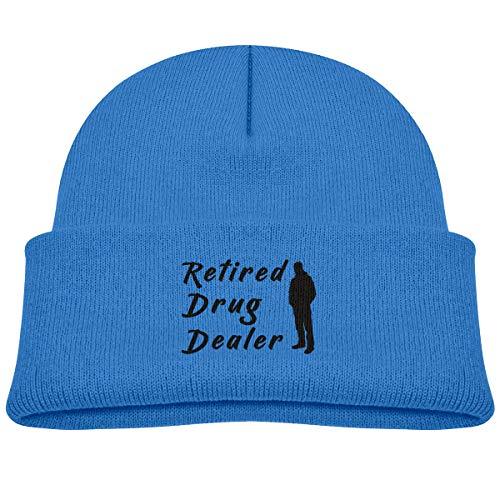 Banana King Retired Drug Dealer Baby Beanie Hat Toddler Winter Warm Knit Watch Cap for Kids Blue]()