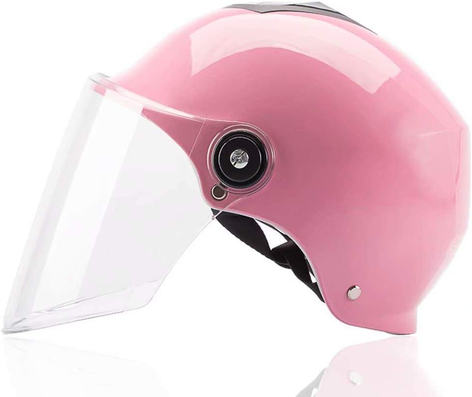 BJYX Cascos de Skate Casco de Motocicleta eléctrica Casco de Patinaje Casco de Bicicleta Unisex para Adultos Equipo de Ciclismo Pin 10.2 × 7.8 Pulgadas