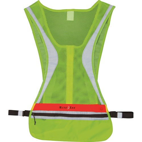 Nite Ize LED Run Vest, Nighttime Light Up Safety Vest with Replaceable Batteries, S/M ()