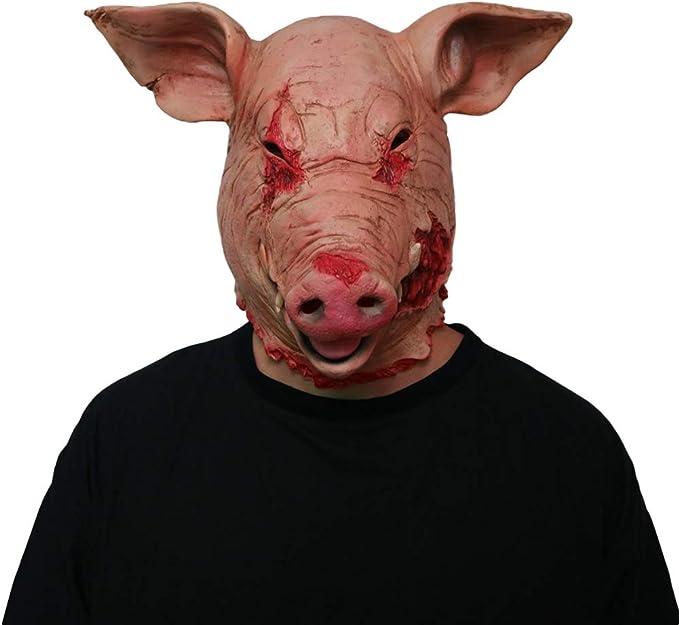Holibanna Accessori Costume di Halloween Maschera Testa di Halloween Animale in Lattice Gallo 2 Pezzi
