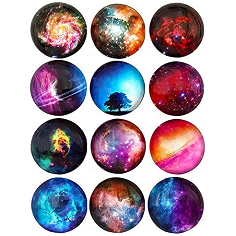 12 Stars Series Fridge Magnets Beautiful Glass Creative Pushpins for Whiteboard Office Calendar Decorative Popular Home Best Gift - Collectible Refrigerator Magnet