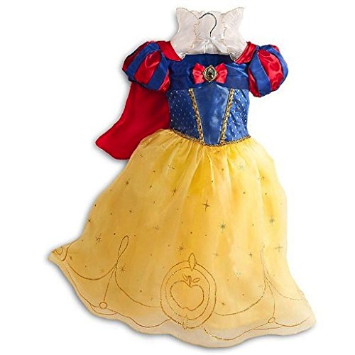 [Disney Store Deluxe Snow White Halloween Costume Dress Size S Small 5 - 6 5T] (Halloween Costumes Snow White)