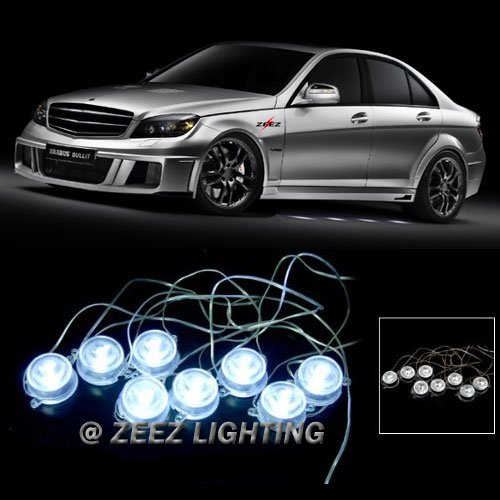 ZEEZ LED - Brabus Style 40-LED Undercar Puddle Light Underglow Ground Effect Kit White (Effects Ground Xenon)