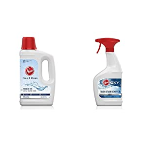 Hoover Free & Clean Deep Cleaning Carpet Shampoo and Oxy Spot Stain Remover Pretreat Spray, AH30952, AH30902