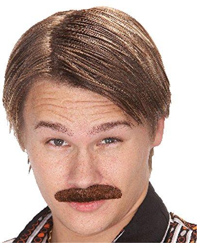 [Mustache 70s Dude Brown] (70s Costumes Men)