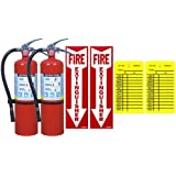 Lot Of 2 Victory 5 Lb Type ABC Dry Chemical Fire Extinguishers With