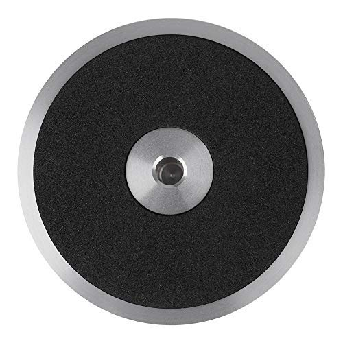 fosa Record Weight Stabilizer, Record Weight Clamp LP Vinyl Turntables Metal Disc Stabilizer Home Audio Turntable for Record Player, CD Player, Chassis, Speakers, etc(Silver)