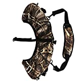 TOURBON Archery Hunting Accessories Camouflage Bow Sling 28'' Cam and String Cover