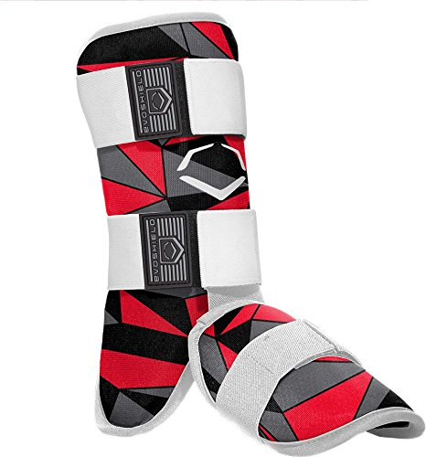 EvoShield Geo Batter's Leg Guard (Red/Black)