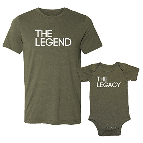 5ed75600 The Legend & The Legacy - Matching Triblend T-Shirt & Baby