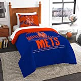 The Northwest Co mpany MLB New York Mets Grandslam Orange, Blue, and White Twin 2-piece Comforter Set
