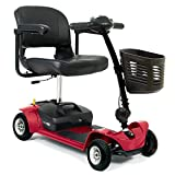 Pride Mobility - Go-Go Ultra X - Travel Scooter - 4-Wheel - Red - PHILLIPS POWER PACKAGE TM - TO $500 VALUE