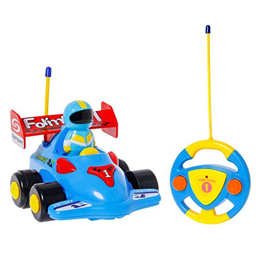 SGILE Race Car Remote Control Train Toy, Kids Birthday Gift Present for Toddlers (Toddler Wins Halloween)