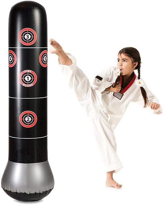 Sac De Sable R/ésistant pour Adultes Et Enfants Sac De Sable Autoportant MMA Boxe Taekwondo Muay Thai Riosupply Punching Ball Gonflable De 63 Pouces