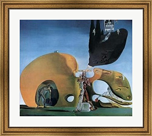 The Birth of Liquid Desires, c.1932 by Salvador Dali Framed Art Print Wall Picture, Wide Gold Frame, 33 x 29 inches - 1932 Gold Framed Print