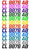 JUST RIDE Custom Boat or PWC Registration Hull ID Decal Sticker Set of 2