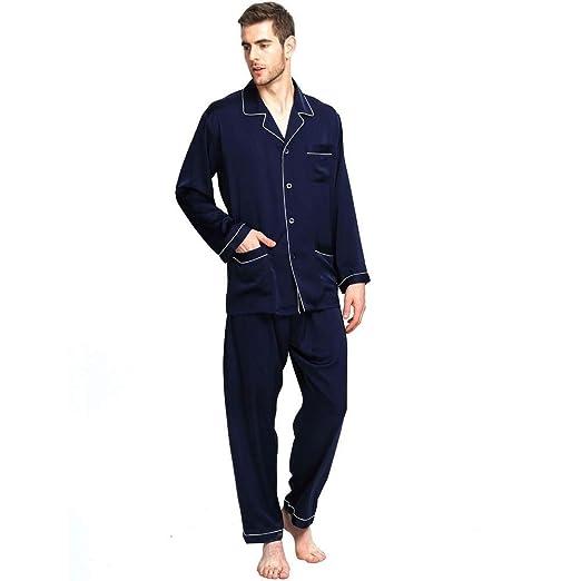 c137e269e5 Pajamas Men s Set Spring Autumn Bathing Pajama Long Loungewear Comfortable  Cozy Home Sleepwear Chemise Two Piece  Amazon.co.uk  Clothing