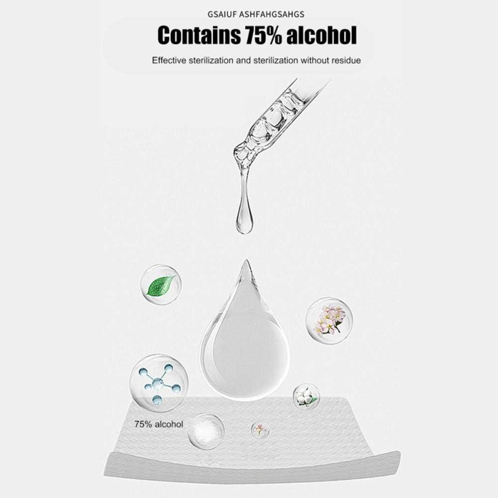 rosemaryrose 100 Hojas Toallitas H/úmedas Port/átiles 75 Alcohol 99,9 Desinfecci/ón Toallitas Desechables para Manos,Toallitas Limpiadoras