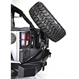 Rampage Products 99606 TrailGuard Rear Bumper with Tire Carrier for Jeep JK Wrangler
