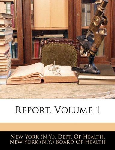 Report, Volume 1 ebook