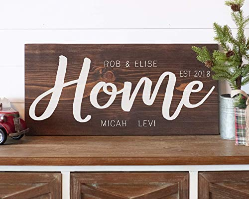 Blended Family Signs for Home Personalized Family Established Wood Sign Personalized Family Name Sign Gift for Her -