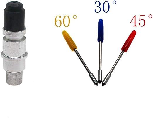 FX Treasures CB09 CB09U Silhouette Blade - Soporte para plotter de vinilo con 15 cuchillas (30/45/60 grados) para Silhouette Cameo 1 2 3/Portrait/Curio/Graphtec 6000/CE 5000-60: Amazon.es: Juguetes y juegos
