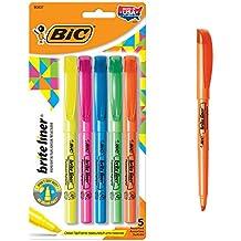 BIC Brite Liner Highlighter, Chisel Tip, Assorted Colors, 5-Count