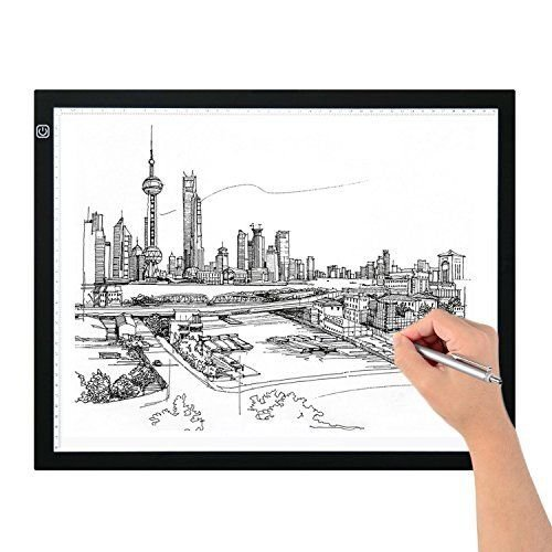 EverKing A3 Tracing LED Light Box, Portable LED Artcraft Tracing Light Pad A3 Light Box Tracer USB Power Cable Dimmable Brightness Tattoo Pad Animation, Designing, Drawing, Artists, X-ray viewer by EverKing