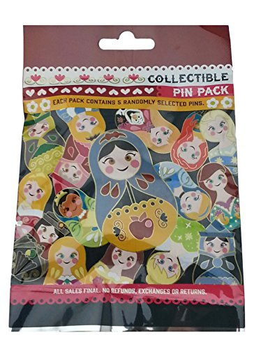 Disney Nesting Dolls 5 Pin Collectible Packs NEW (Disney Parks Little Pin Mermaid)
