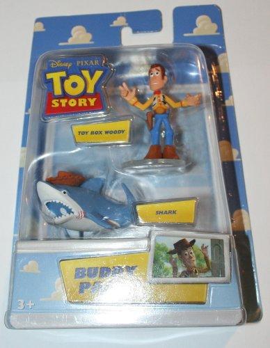 (Disney / Pixar Toy Story Mini Figure Buddy 2Pack Toy Box Woody Shark)