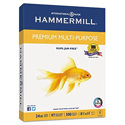 Hammermill Paper, Premium Multi-Purpose Poly Wrap, 8.5 x 11, Letter, 97 Bright, 1 Ream (105910) Made In The USA
