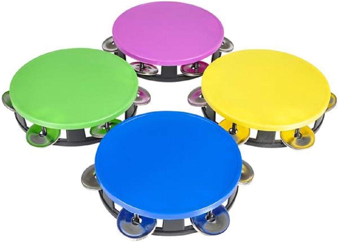 Plastic Noisemaker 12 Pack 5.5 Zugar Land Kids Neon Tambourine