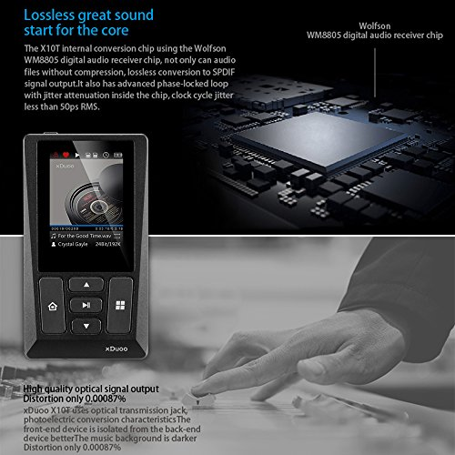 Docooler xDuoo X10T HiFi Music Player Digital Turntable Player High Resolution Lossless Audio Player WM8805 JZ4760B DSD APE FLAC w/ 2 inch Screen by Docooler (Image #5)