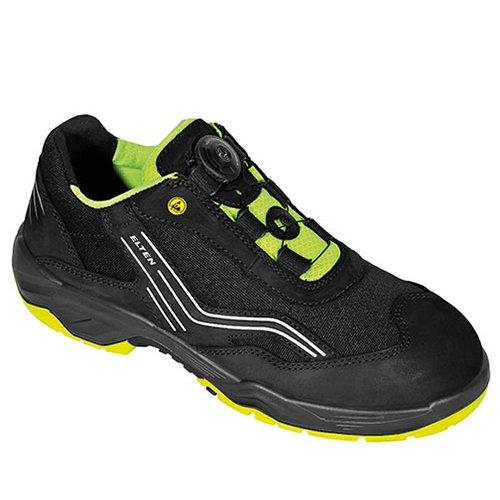 Zapatos de seguridad Elten S2 con excelente amortiguación - negro / verde