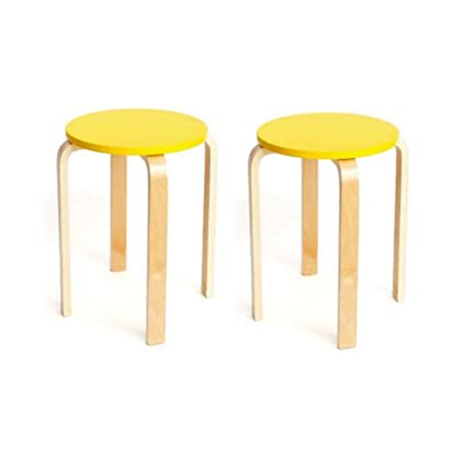 Miraculous Bycsd Wooden Round Stool Natural Bent Wood Stool Candy Theyellowbook Wood Chair Design Ideas Theyellowbookinfo
