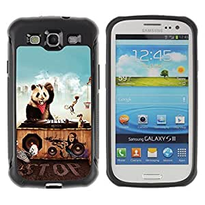 Hybrid Anti-Shock Defend Case for Samsung Galaxy S3 / Animals Party