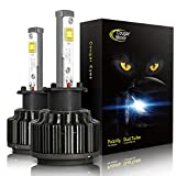 Cougar Motor H1 60W LED Headlight Bulbs All-in-One Conversion Kit,7200 Lumen (6000K Cool White)