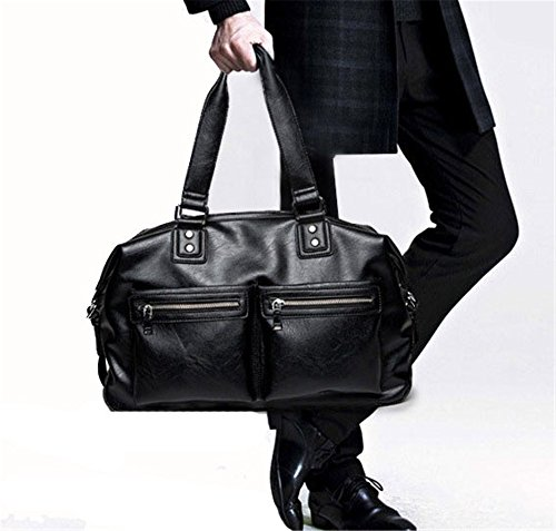 Multifunctional Men's Portable Trip Black Travel Capacity Large Xuanbao Bag Messenger Short qdXwxUxfp0