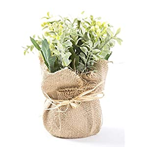 LODESTAR Artificial Flower in Beautiful Pot Mini Fake Floral Bouquet Indoor Outdoor Home Office Wedding Decoration 4