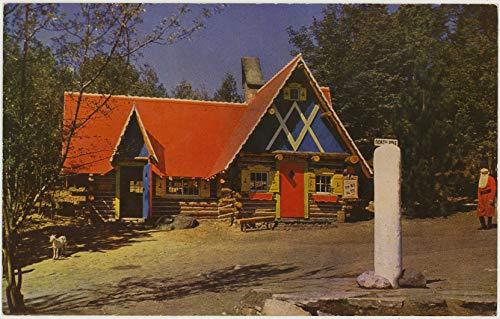 Santa's Workshop Post Office at North Pole - Wilmington New York - Vintage Chrome Amusement Park Postcard - #Sar 158